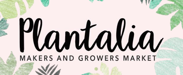 Plantalia makers and growers market banner and illustration